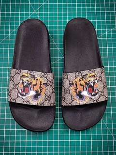 Gucci GG Supreme Tiger Head Slides Preorder