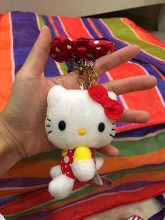 Sanrio hello kitty keychain plush