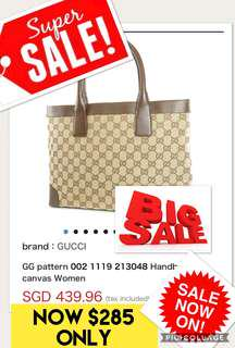95fc420523b Authentic Gucci bag GG canvas Thoth 002- 1119 GUCCI Lady s hand brown