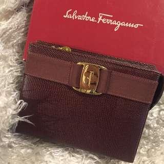 Authentic Salvatore Ferragamo Clutch Cosmetic bag