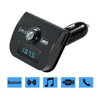 High quality Hands-free Bluetooth Mp3 Player FM Transmitter Car Kit Car Charger