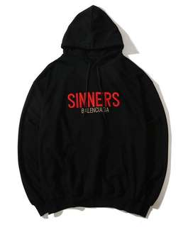 Authentic Brand New With Tags Balenciaga Sinners Hoodie Preorder