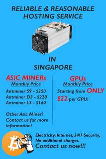 MINING RIG HOSTING SERVICES - MOST AFFORDABLE & RELIABLE IN SINGAPORE