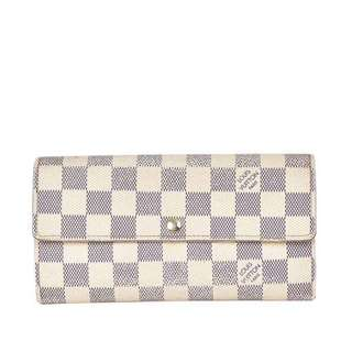 Authentic Louis Vuitton Damier Azur Sarah Wallet
