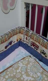 Crib bumper for babies & toddler (Car design)
