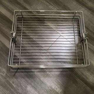 Stainless steel shelf for tall pullout drawers