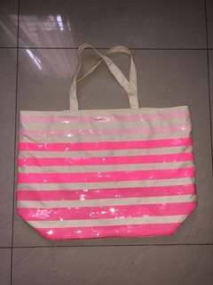 Authentic Victoria's Secret Canvas Bag