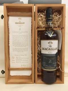 Macallan 21 Fine Oak