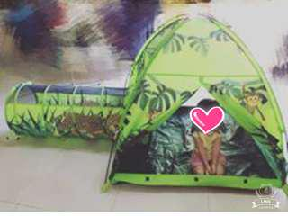 Children play tent & tunnel