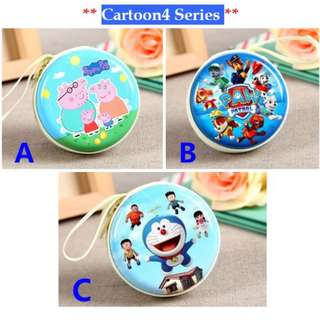**Free Shipping**Cute Coin purse/Cartoon Earphone Holder/Multi Functional Tin