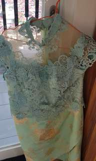 Dress Green Mint Gown for Wedding Party