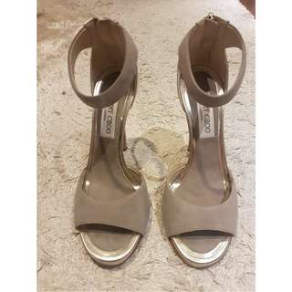 Jimmy Choo grey and silver heel size 37.5
