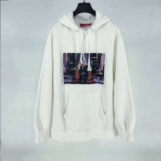 Authentic Brand New With Tags Supreme Scarface Friend White Hooded Sweatshirt Preorder
