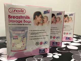Breastmilk storage Bags 5oz/7oz (25pc X4)