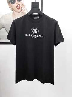 Authentic Brand New With Tags Balenciaga BB Mode ( Black/White ) Tshirt Preorder