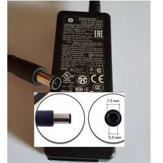 Original HP 45W Smart AC Power Adapter, 19.5V, 2.31A AC Laptop Adapter/Charger With Cord