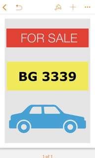車牌 BG 3339
