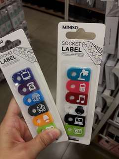 SOCKET LABEL (MINISO)