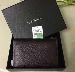 全新 意大利制 Paul Smith Card Wallet