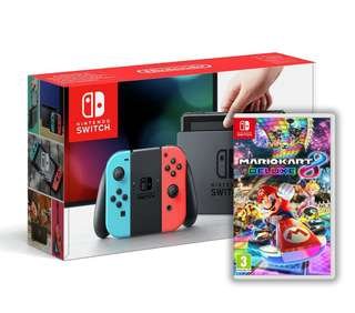 🚚 SALE BNIB LOCAL SET Nintendo Switch Console Neon + Mario Kart 8 Dexlue Game Bundle