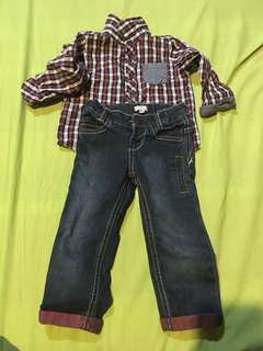 Ootd terno bought im dubai slim fit pants for 8 mnths to 3 yrs old