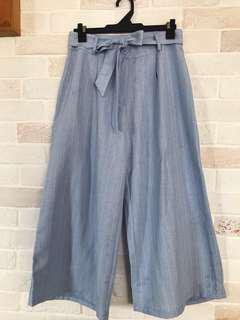 Blue Strip Culottes
