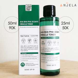 SOME BY MI MIRACLE TONER ORI AND READY BEB !!!