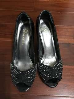 🚚 真皮鑲鑽魚口鞋size:3.5