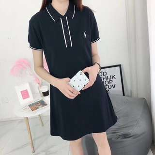Ralph lauren polo dress in blk or white