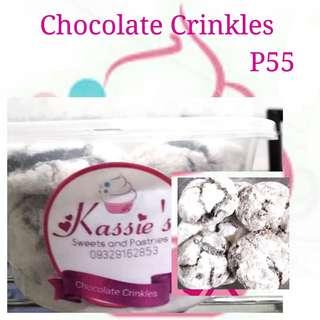 Chocolate Crinkles, Brownies Bites, Cookies