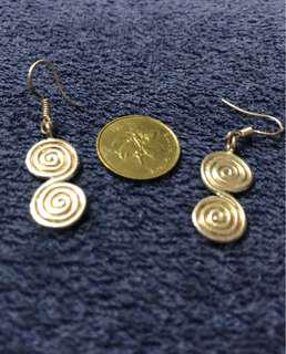 Sterling silver spiral shape ear rings