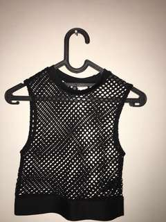 H&M mesh top (WTF outfit) rave crop too