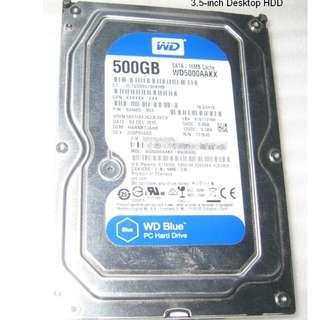 3.5-inch 500GB Western Digital Harddisk