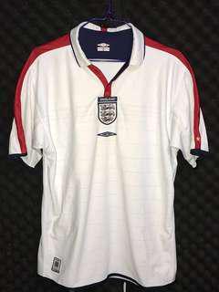 英格蘭🏴03/05主場 L England home soccer football shirt jersey 波衫 足球服 Umbro Beckham Owen Scholes Gerrard Rooney
