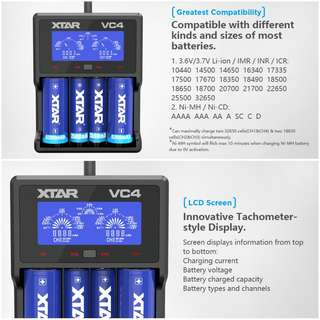 XTAR VC4 LCD Intelligent Charger