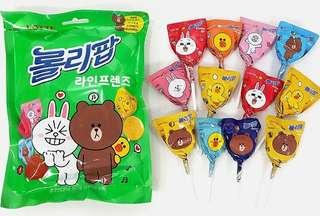 韓國代購🇰🇷Line friends波板糖 棒棒糖