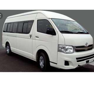 Mini Bus Service, 13 seaters van with driver - avail for hourly / day booking Singapore only