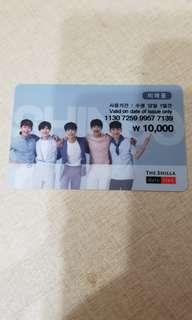 Shinee 絕版代言The Shilla Duty Free 購物卡