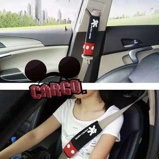 全新現貨 米奇老鼠 米奇 Mickey Mouse 安全帶 安全帶套 一對裝