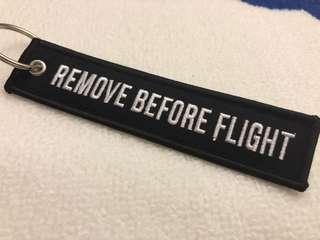 [飛行鎖匙扣] REMOVE BEFORE FLIGHT  紅/黑 $30 /個