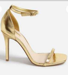 F21 gold heels
