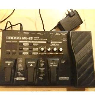 BOSS ME25 - GUITAR MULTIPLE EFFECTS