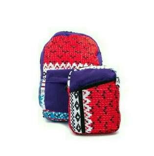 2in1 Backpack & Sling Bag Set