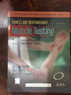 Daniels & Worthinghams Muscle Testing by Hislop, Avers , Brown (9th Edition