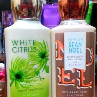 All in Bath and Body Works Lotion