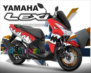 Decal lexi merah shark