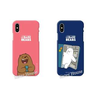 (包郵)🇰🇷We Bare Bears Soft Color Phone Case 彩色軟手機殼