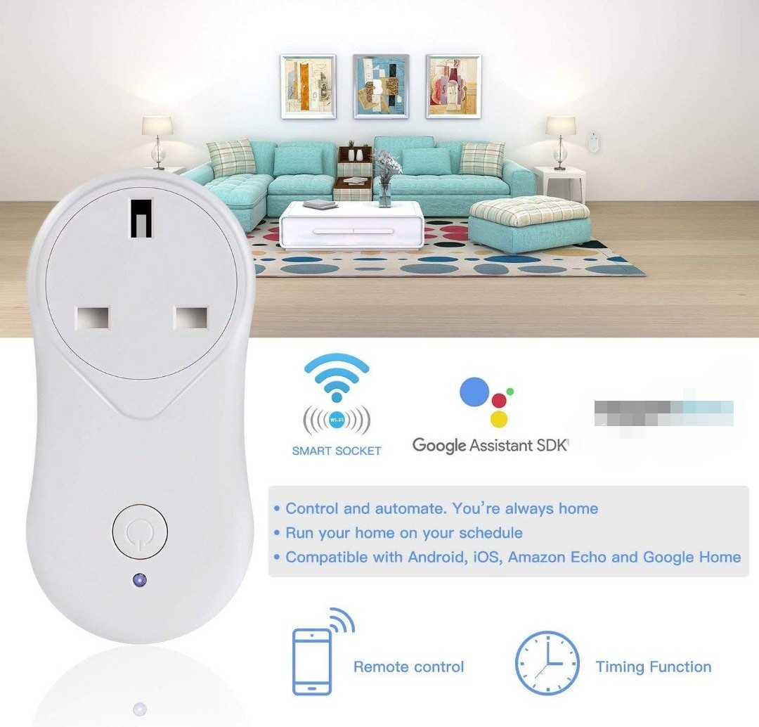 (358) Smart Plug WiFi Smart Wireless Timer Socket Remote Control by  Smartphone Voice Control