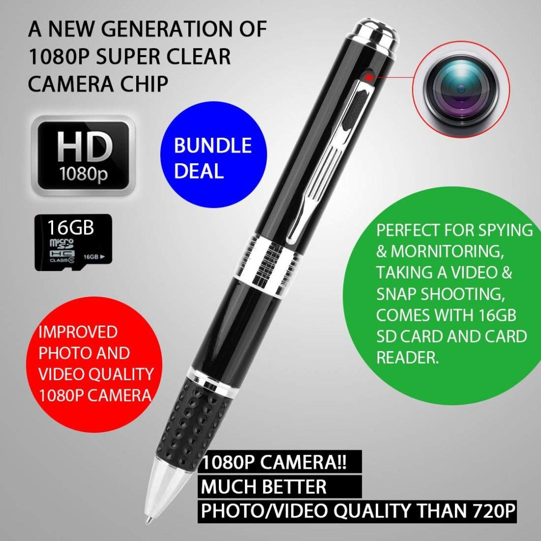 867  Spy Pen Camera, Eternal eye® Official 1080P Hidden