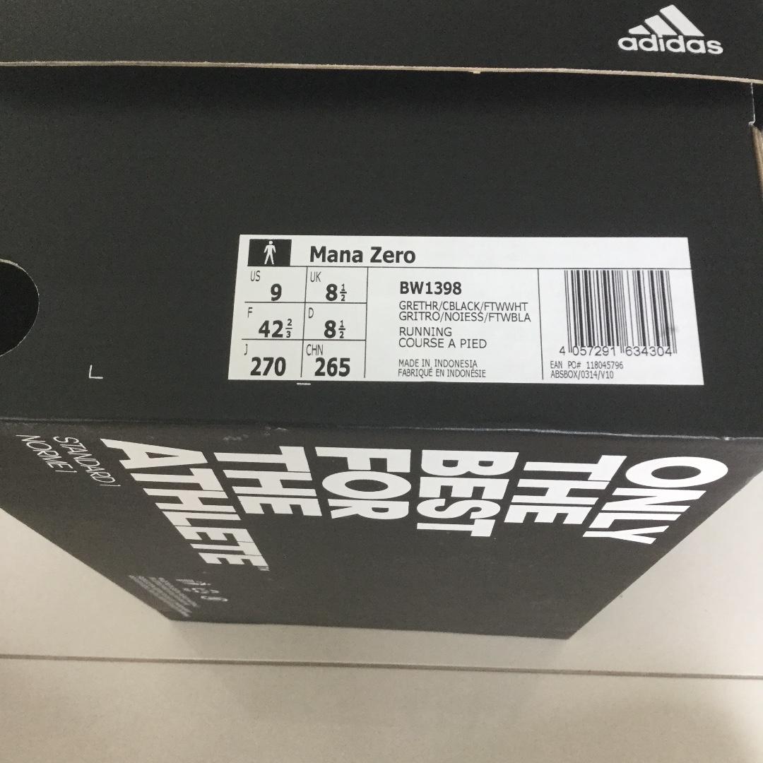 04f8709f2 Adidas Mana Zero M Black Grey